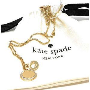 Kate spade spot the spade pave charm pendant gold
